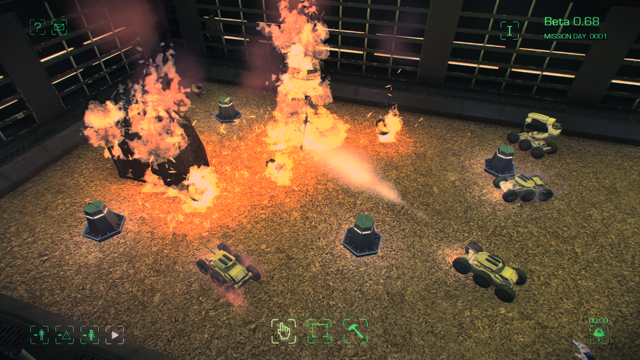 Maia game fire fighting robot